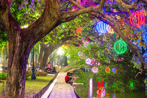 Staande foto Tuin City park. Hanoi