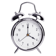 Four hours on a round alarm clock