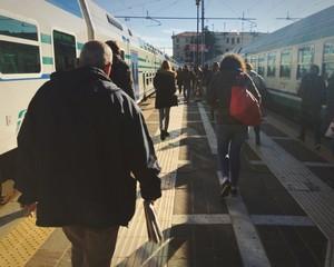 Arrivo alla stazione dei treni a Venezia