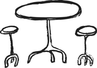 doodle table and chairs