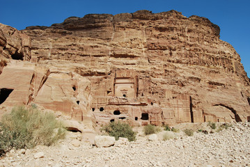 View of ruins in Petra