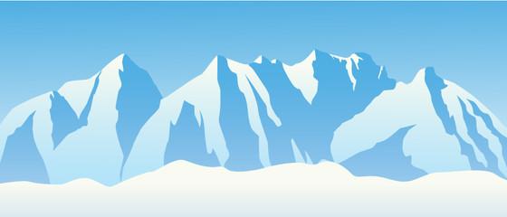 Hochgebirge mit Schnee