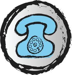 doodle phone icon