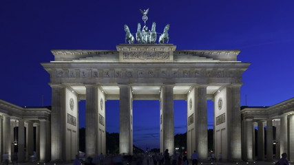 Time lapse Brandenburg Gate at sunset, Berlin