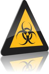 Warnschild biologische Gefahr