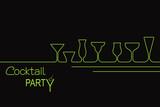 Design for cocktail party invitation or bar menu