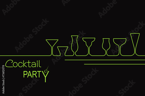 Design for cocktail party invitation or bar menu - 73612078