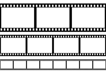 Set of film frame, vector