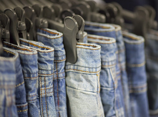 Jeans in the store