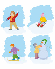 Children onside winter game