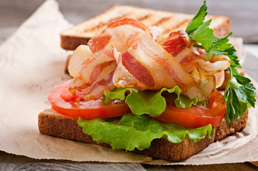 hot big sandwich
