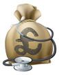 Pound Money Sack and Stethoscope