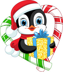 Penguin with a gift