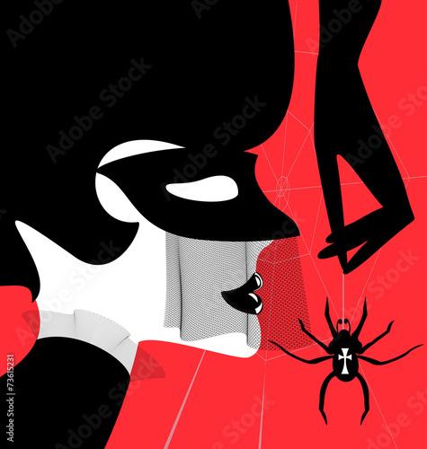 Plakat gothic dame