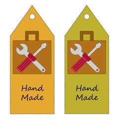 Handmade card vector