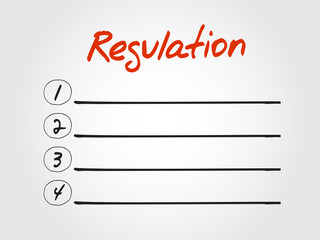 Blank Regulation list diagram, chart shapes vector concept