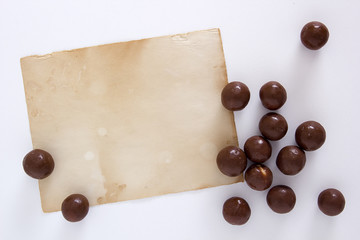 Chocolate candy round