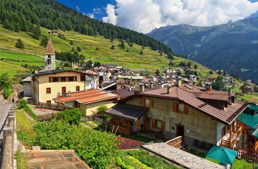 Pejo village, Trentino, Italy