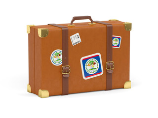 Suitcase with flag of belize