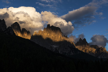 Sundown over Pale di St.Martino, Dolomites