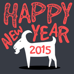 happy goat,chinese new year 2015