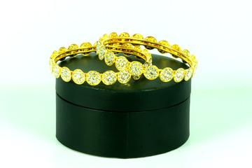 Wedding gold bracelets for bride