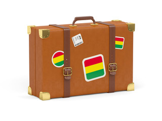 Suitcase with flag of bolivia