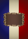 French insignia for book cover or background design template poster