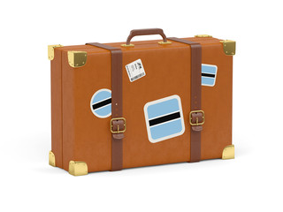 Suitcase with flag of botswana