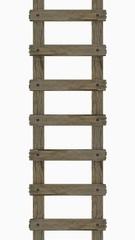 Holzleiter, hell-braun