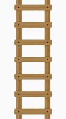 Holzleiter, beige