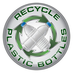 Recycle Plastic Bottles Button