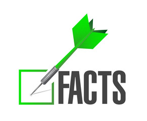 facts dart illustration check mark