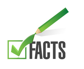 facts checkmark illustration design