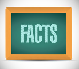 facts sign illustration design