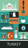 Symbols of Turkey. - 73620891