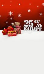 Christmas gifts 25 percent Rabatt Discount