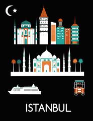 Istanbul city. Vector