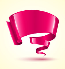Pink ribbon banner twist.