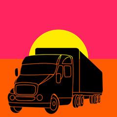 Camion semi-remorque pop