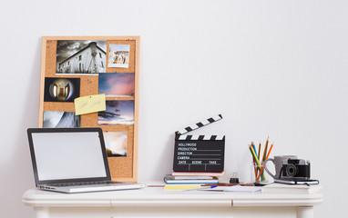 Desk of creative worker