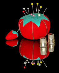 Sewing tool of a pincushion