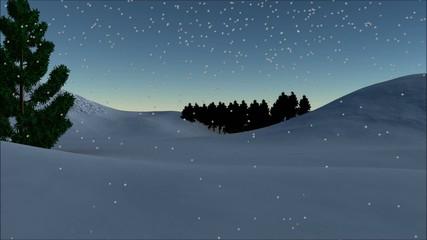 Christmas animation-Merry Christmas text and animated snowman