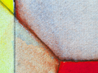 A close-up detail from a painting
