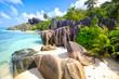 Leinwanddruck Bild - Anse Source d'Argent beach, La Digue Island, Seyshelles