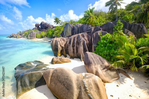 Papiers peints Ile Anse Source d'Argent beach, La Digue Island, Seyshelles