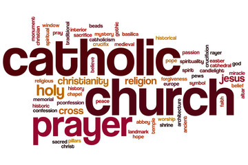 Catholic church word cloud