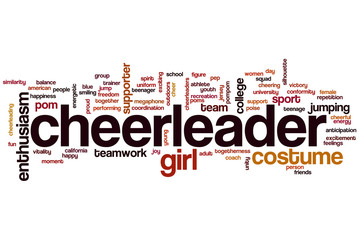 Cheerleader word cloud
