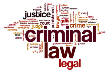 Criminal law word cloud