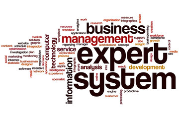 Expert system word cloud